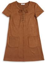 Dex Lace-Up Sueded Dress