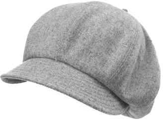 Jeff & Aimy Newsboy Cap for Women 51% Wool Winter Hat Ladies Visor Beret Cloche Hats Cold Weather Hat Lined Grey Gray