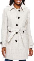 Liz Claiborne Hooded Wool-Blend Coat - Tall