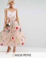Asos Embellished Tulle Prom Midi Skirt