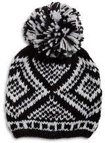 BCBGeneration Large Pom Pom Knit Hat