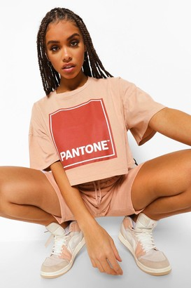 boohoo Pantone Acid Wash Cropped T-shirt