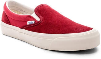Vans OG Classic Slip On LX in Sun Dried Tomato & Mineral Red | FWRD