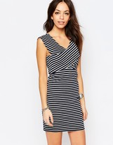 Only Striped Wrap Top Dress