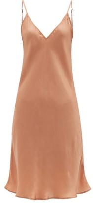 Mes Demoiselles Loulou Satin Slip Dress - Dark Pink