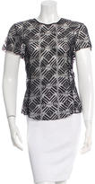 Nina Ricci Lace Short Sleeve Top