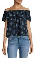 Current/Elliott Floral Print Off-the-Shoulder Top