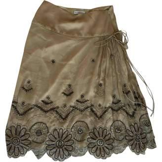 Megan Park Beige Silk Skirt for Women