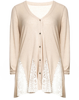 Isolde Roth Plus Size Cotton lace cardigan