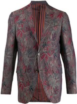 Etro long sleeve floral pattern blazer