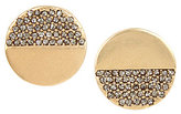 Kenneth Cole New York Pave Disc Stud Earrings