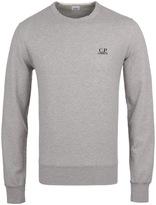 Cp Company Felpa Grey Marl Crew Neck Jersey Sweatshirt