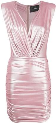 John Richmond V-neck metallic-finish dress