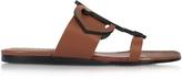 Emilio Pucci Ambra Leather Flat Sandal