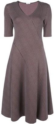 Rosetta Getty diagonal stripe midi dress