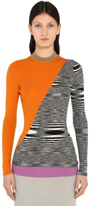 Missoni Bicolor Wool & Metal Knit Sweater