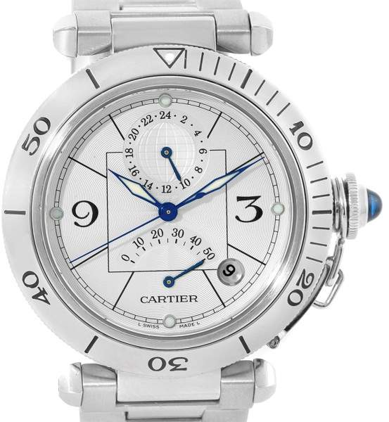 Cartier Pasha W31037H3 Stainless Steel 38mm Mens Watch