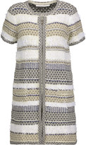 Diane von Furstenberg Arryn metallic textured cotton-blend cardigan