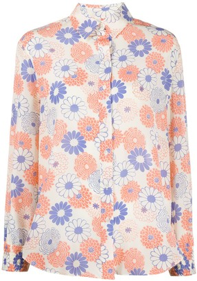 Kenzo Floral Print Long-Sleeved Shirt