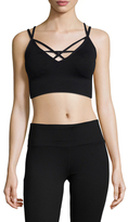 Betsey Johnson Strappy Front Seamless Sports Bra