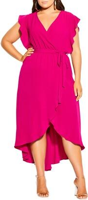 City Chic Romantic Wrap Dress
