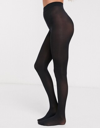 Pretty Polly Eco biodegradable and recyclable 40 denier tights in black