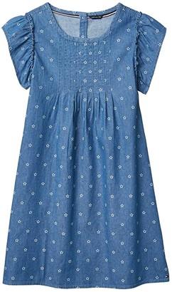 Tommy Hilfiger Star Chambray Dress (Big Kids) (Blue) Girl's Dress