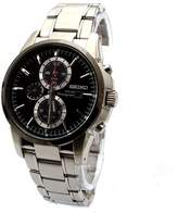 Seiko Men's Core SSC087 Silver Stainless-Steel Quartz Watch with Black Dial