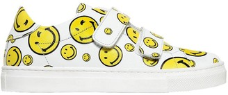 Joshua Sanders SMILE NAPPA LEATHER STRAP SNEAKERS