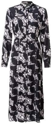 Ya-Ya Maxi dress with paisley print - 36 (8) | viscose | black | deep dark blue - Black/Black