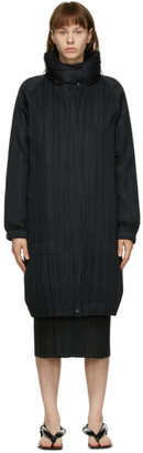 Pleats Please Issey Miyake Black Down Removable Liner Coat