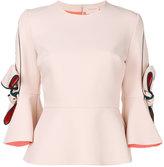 Roksanda flared bow-sleeve blouse