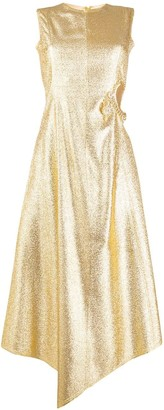 Gold Diamante Cut Out Dress