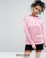 Puma Exclusive To ASOS Satin Oversized Sweatshirt