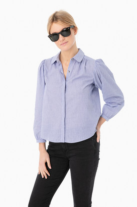 La Vie Rebecca Taylor Long Sleeve Lina Stripe Top