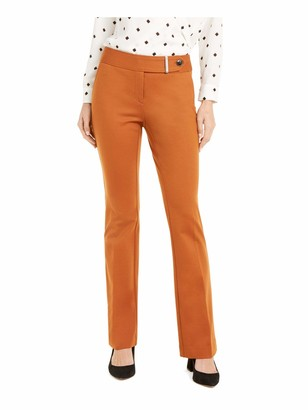 Alfani Womens Brown Straight Leg Evening Pants UK Size:10