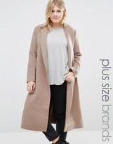 Alice & You Longline Coat With Drop Lapel