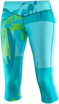 Salomon Blue Bird & Enamel Blue Elevate Three-Quarter Tights - Women