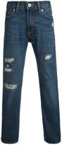 Levi's 505 Classic Destructed Jeans - Straight Leg (For Big Boys)