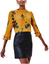 Oasis Spaced Out Floral 3/4 Sleeve Top