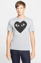 Comme des Garcons Men's Logo Graphic Crewneck T-Shirt