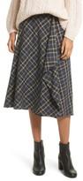 Vince Women's Drape Front Plaid Skirt