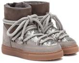 Inuikii Kids Sneaker sequin and suede boots