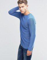 Benetton Ribbed Jumper with Crew Neck