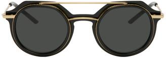 Dolce & Gabbana Black and Gold Slim 6136 Sunglasses
