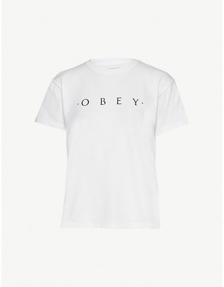 Obey Logo-printed jersey T-Shirt