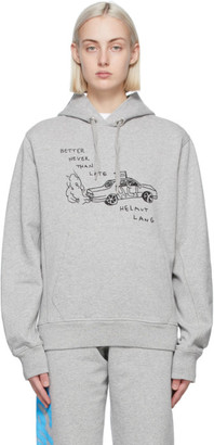 Helmut Lang SSENSE Exclusive Grey Saintwoods Edition Taxi Hoodie