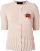 Dolce & Gabbana heart patch cardigan