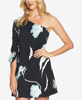 1 STATE 1.STATE One-Shoulder Cinched-Sleeve Dress