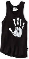 Nununu Knitted Hand Print Tank in Black. - size 2/3T (also in 3/4T,4/5T)